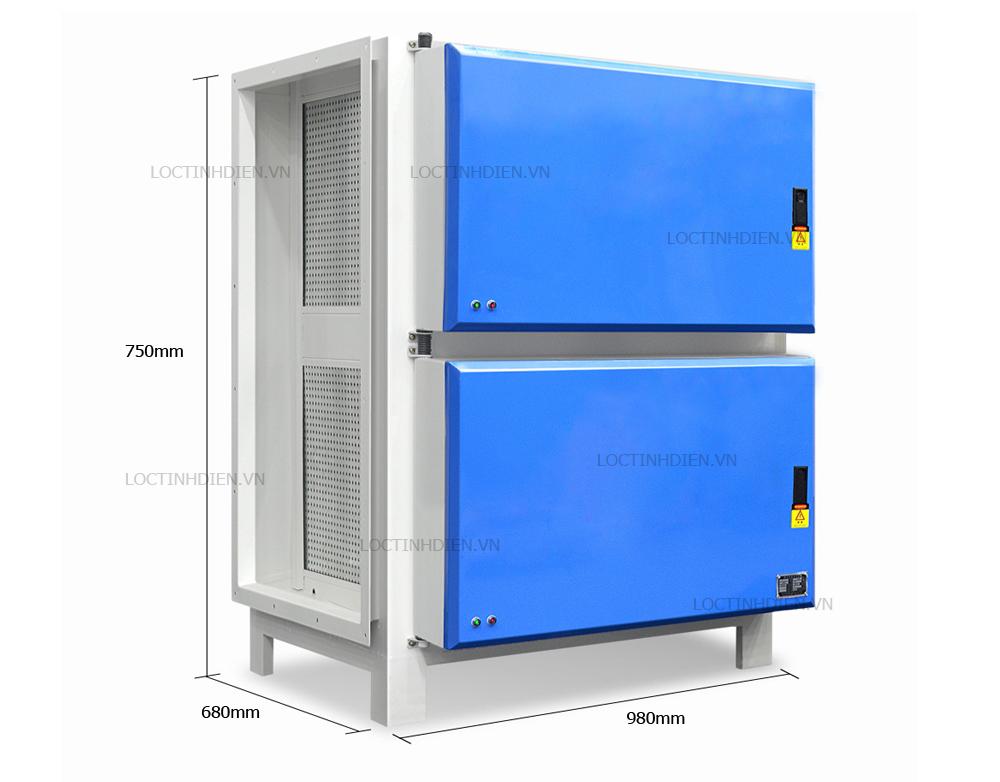 Kích thước máy lọc tĩnh điện 16000