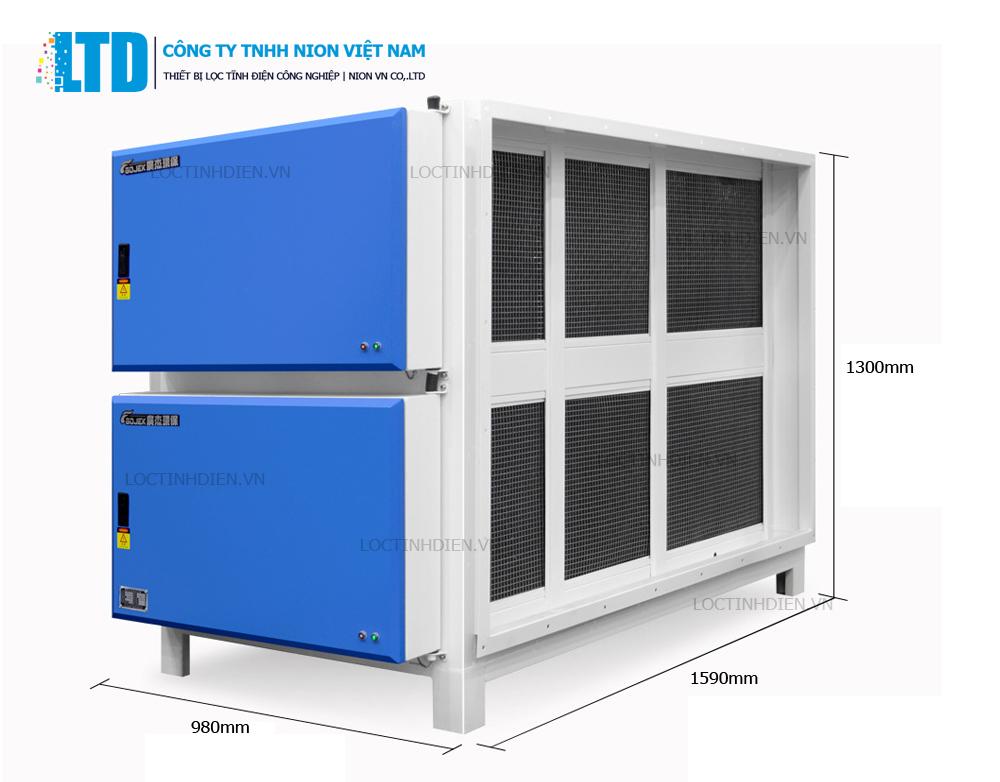 Kích thước Máy lọc tĩnh điện Nion 42000