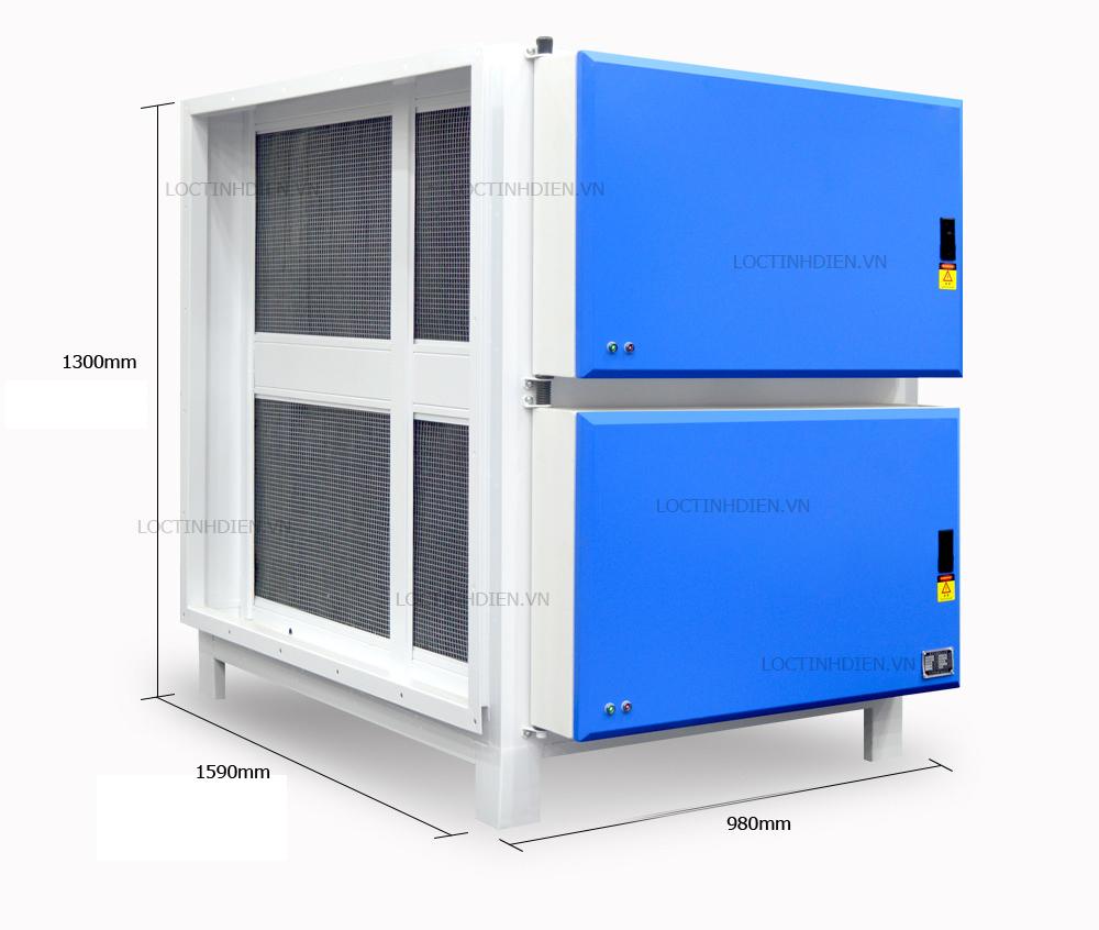 Kích thước máy lọc bụi tĩnh điện Nion 32000